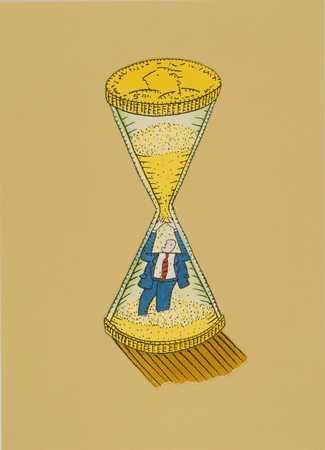 Businessman In Hourglass