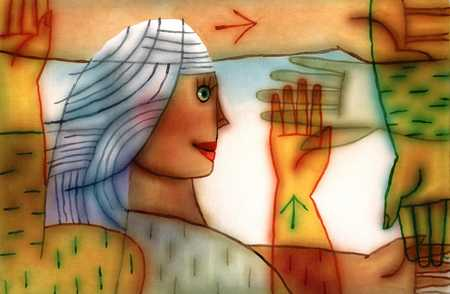Woman and Hands