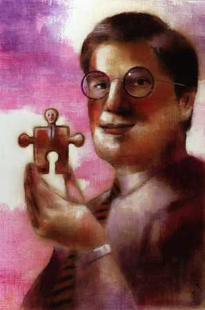 Businessman With Puzzle Piece