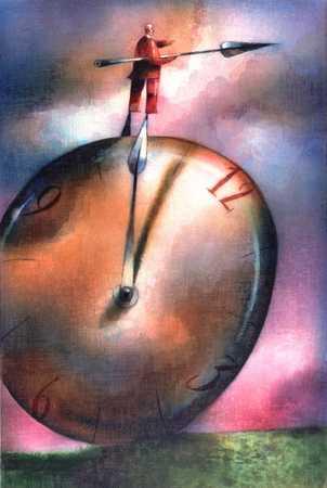 Man On Clock