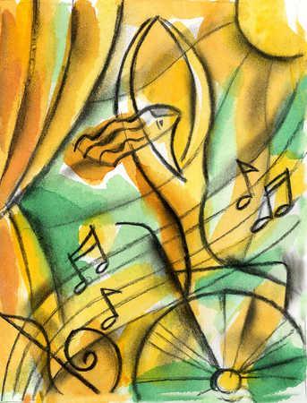 Woman in wheelchair enjoying music