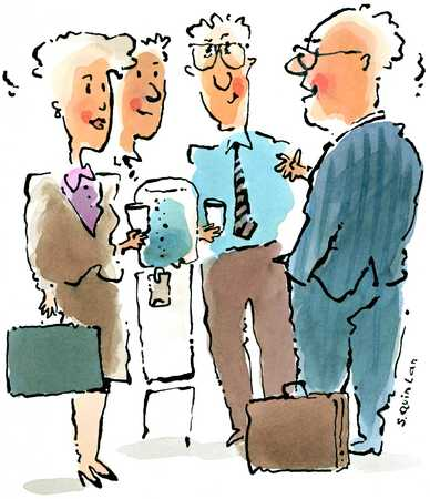 Businesspeople at the Watercooler