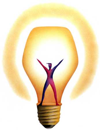 Lightbulb With Figure