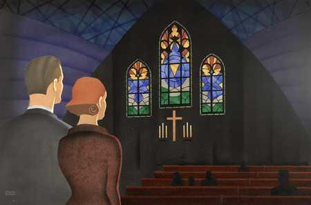 Couple At Church