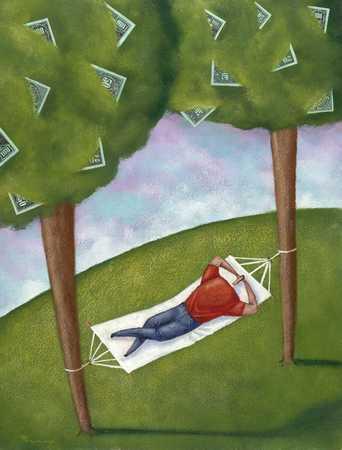 Hammock Between Money Trees