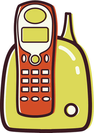 stock illustration illustration of a cordless phone rh illustrationsource com cordless phone clipart Toshiba Cordless Phone