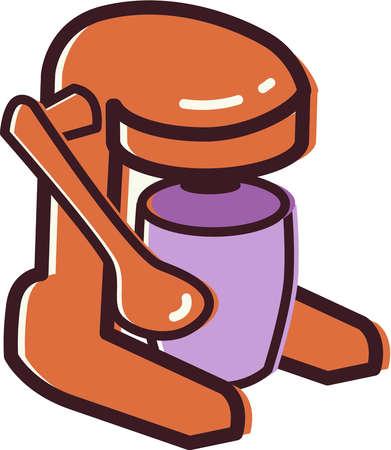 Ilustration of a juicer
