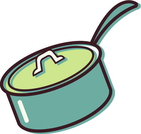 Stock Illustration - Illustration of a pot with a lid