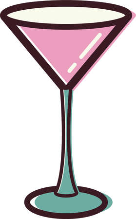 Illustration of a martini glass