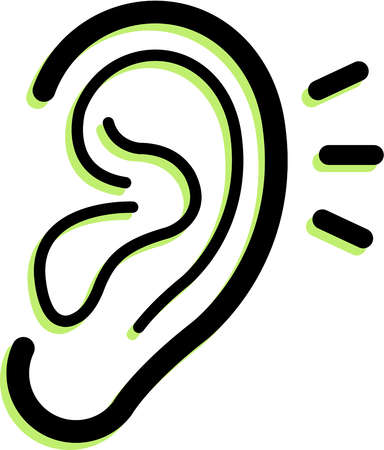 Human ears clipart black and white - photo#49
