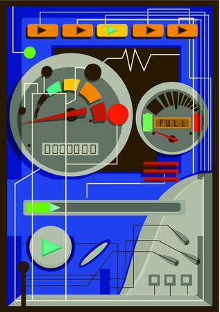 An illustration of a digital speedometer