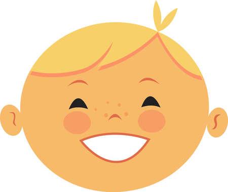 Illustration of a blonde boy