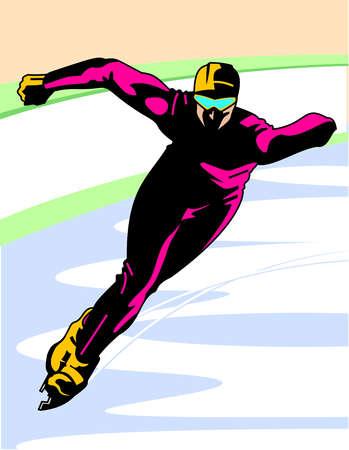 A man speedskating