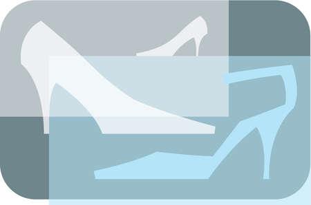 Three high heeled shoes