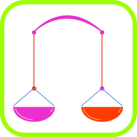 Libra icon with a green border