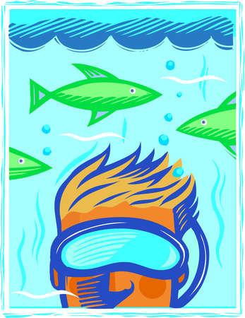A man wearing a snorkel