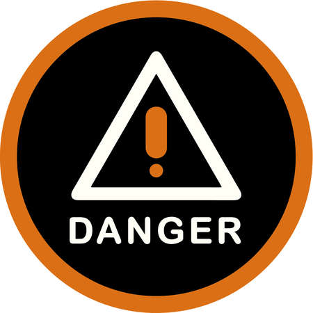 Stock Illustration - A picture of a danger sign