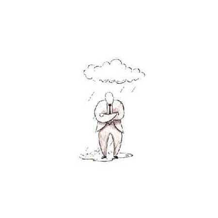 Man In Rainstorm