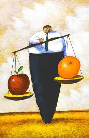 Weighing Apple And Orange
