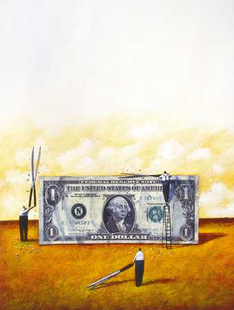 Trimming Dollar Bill
