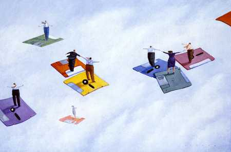 People On Flying Diskettes, Converging