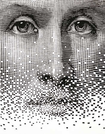 Human face close-up