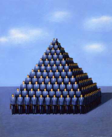 Businessmen Pyramid