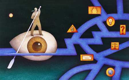 Sailing Eyeball Into Maze