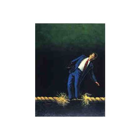Man On Unraveling Rope
