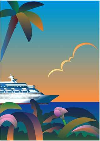 Cruise Ship In Tropics
