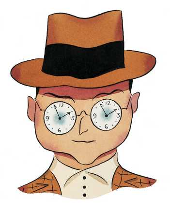 Man With Clock Glasses