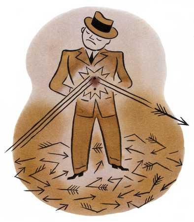 Man Deflecting Arrows