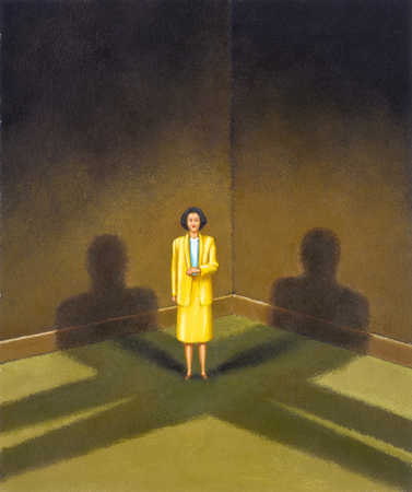 Cornered Businesswoman