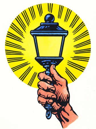 Man holding lantern