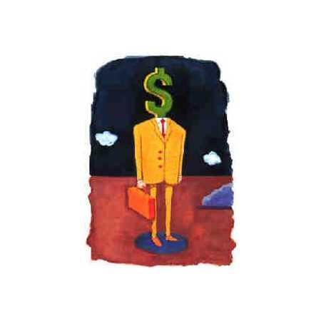 Businessman With Dollar-Head