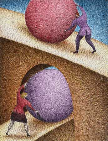 People With Balls And Bridge