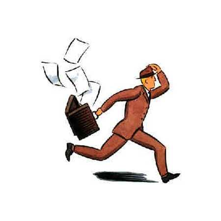 Running Man With Briefcase