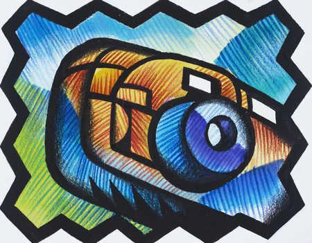 Camera, close-up