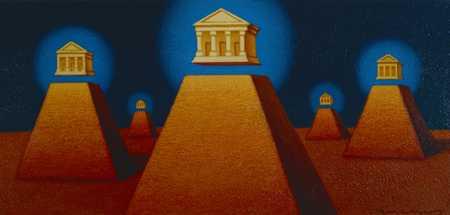 Banks on pyramids