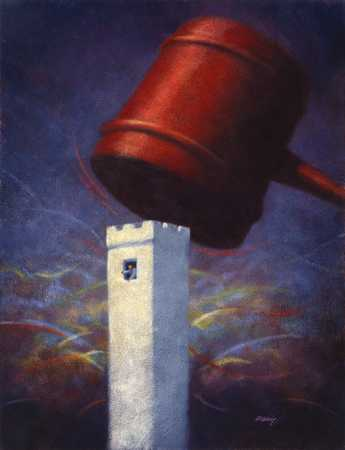 Gavel And Tower