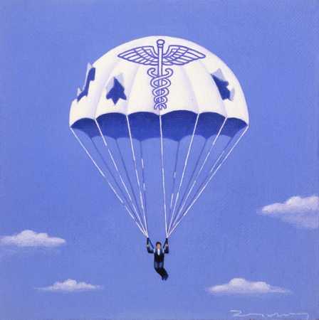 Parachute With Caduceus