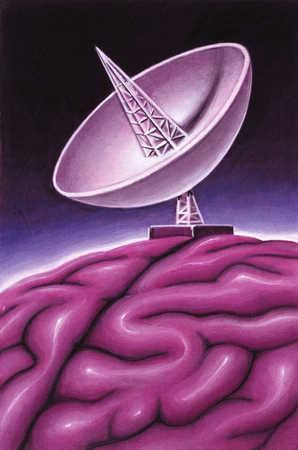 Satellite Dish On Brain
