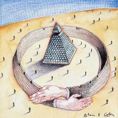 Arms Encircling Pyramid