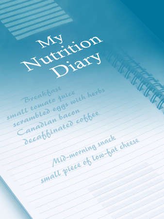 Photo illustration of a nutrition diary showing an entry from a low carbohydrate diet.