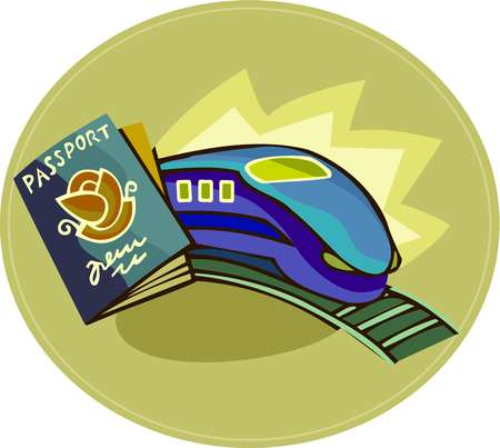 A passport and a train
