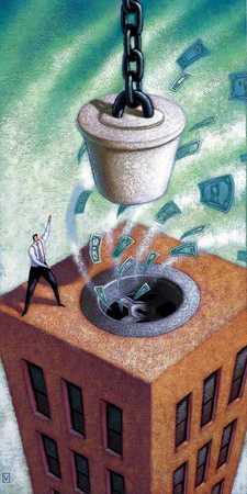 Money Down Building Drain