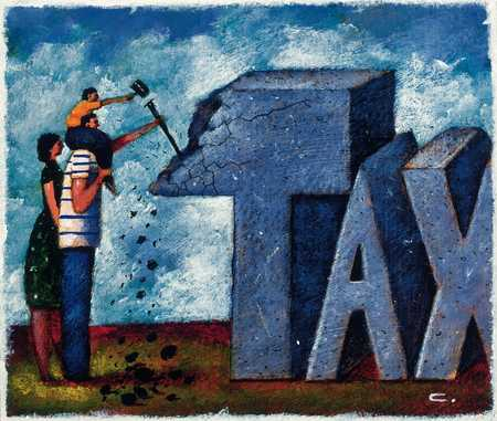 Family Chipping At Tax