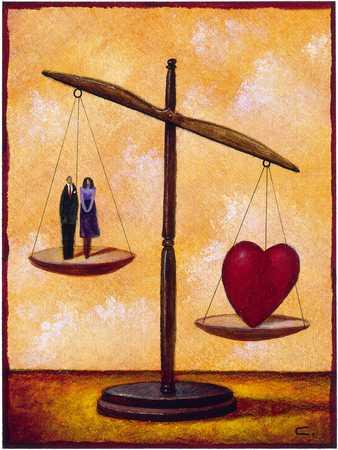 Couple Vs. Heart On Scale