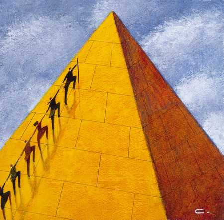 Climbers On Pyramid