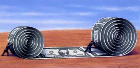Rolling Dollar Carpet